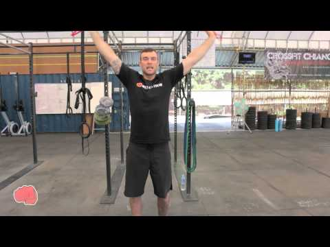 How to Warm Up Shoulders with Resistance Band - WOD Nation coach Barry @ CrossFit Chiang Mai