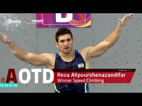 Athlete of the Day - Reza Alipourshenazandifar, Speed Climbing