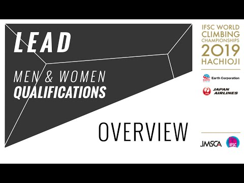 IFSC Climbing World Championships Hachioji 2019 - Lead - Qualification Overview